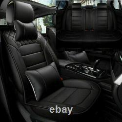 PU Leather Car Seat Covers Universal Auto 5-Sit SUV Front+Rear Comfort Cushion