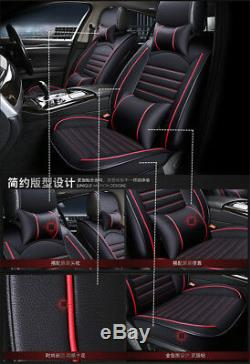 PU Leather Limo Car Seat Protector Front+Rear Interior Covers Decor Accesories