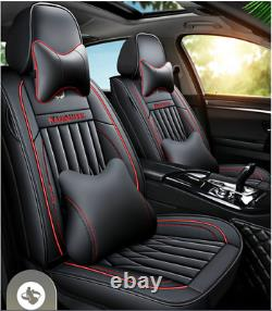 PU Leather Luxury Car Seat Cover Full Set Front&Rear For Interior Accessories