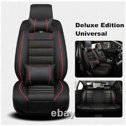 PU Luxury Leather Car Seat Cover Full Set Front&Rear For Interior Accessories