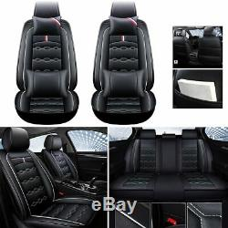 Pu Leather Car Seat Cover Full Set Front Rear Cushion +WithNeck Pillow for RAV4