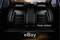 Pure Black Leather Car Seat Cover Ford Falcon Focus Fiesta Ranger Mondeo Kuga