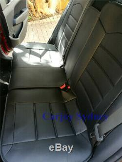 Pure Black PU Leather Car Seat Cover for Honda CRV Accord HRV Civic City Jazz
