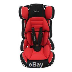 Red & Black Parker Child Baby Car Seat Group 1/2/3 Age 4-12 Safety Booster Seat
