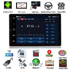 Rotatable 10.1 Android 9.0 Car 1Din Stereo Radio Player 4GB/64GB HDMI GPS Wifi