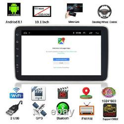 Rotatable 10.1in Android 8.1 HD Car Stereo GPS Navigation Radio Player 2Din WIFI