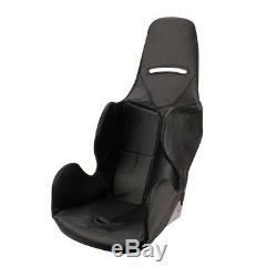 Safety Racing Budget Aluminum Stock Car Seat with Black Upholstery, 16 Inch Wide