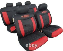 Seat Cover Black Red Full Set Universal Fit For Toyota Tacoma 4Runner 2003-2020