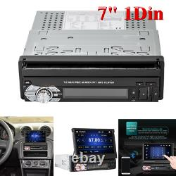 Single 1Din Flip Car Stereo Radio 7 Touch Screen MP5 Player Android Mirror Link
