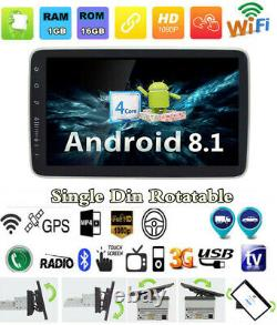 Single Din 9inch Android 8.1 Quad-core HD Touchable Car Radio In Dash Stereo GPS