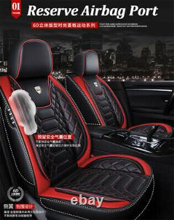 Standard 5-Seats Full Set Car Seat Covers Cushions Luxury PU Leather Protector