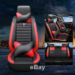 Top PU Leather Car Seat Cover Front & Rear 5-Sits Cushion Universal Interior Set