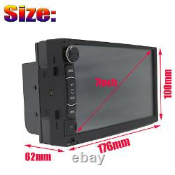 Touchscreen Car Stereo Radio Double 2DIN for GPS Wifi USB Player with 8 LED Camera