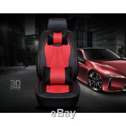 US 5 Seats Car Seat Cover Cooling Set Front & Rear For Auto SUV Sedan All Season