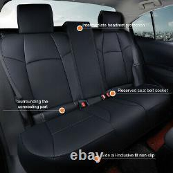 US Black Car Durable Leather Seat Covers Customized For Toyota Corolla 2019-2021