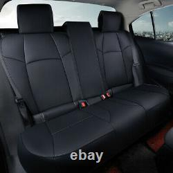 US Car Leather Seat Set Covers Kit Customized For Toyota Corolla 2019-2021 Black