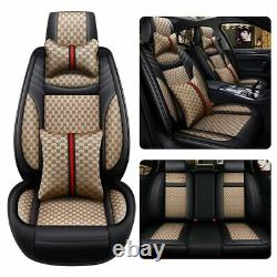 US Luxury Fashion Car Seat Covers Front&Rear Universal 5-Seats Car SUV Truck