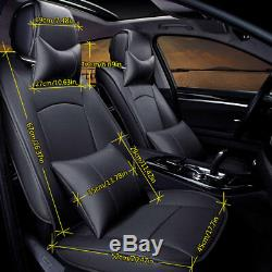 US PU Leather Car Seat Cover For Ford F-150 2010-2018 Full Set Front+Rear Covers