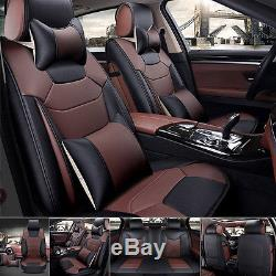 US Top Microfiber Leather 5-Seats Car Seat Cover Cover Front+Rear Cushion SizeL