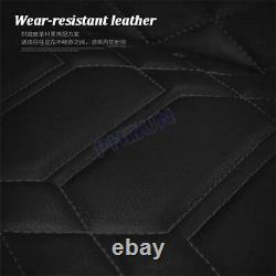 Universal 5-Seats Car Cushions Front + Rear Seat Covers PU Leather Protector Set