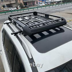 Universal Roof Rack Luggage Hold Cargo Car Top Carrier Basket withCrossbar