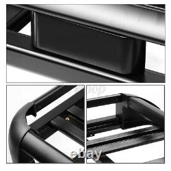 Universal Roof Rack Luggage Hold Cargo Car Top Carrier Basket withCrossbar Holder