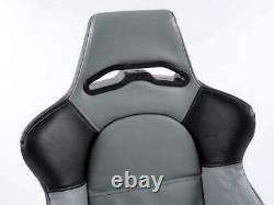Wing Back Car Sports Bucket Seats Edition 1 Faux leather grey black VW Audi Seat